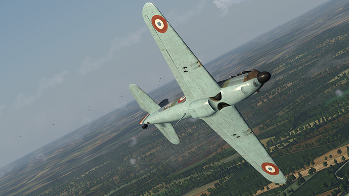 In game screenshot of a manoeuvring D.520