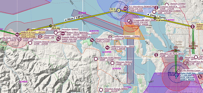 VFR_Route_KAWO_to_KCLM