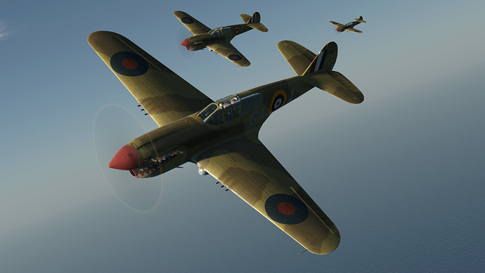An in game screenshot of a flight of Kittyhawk.