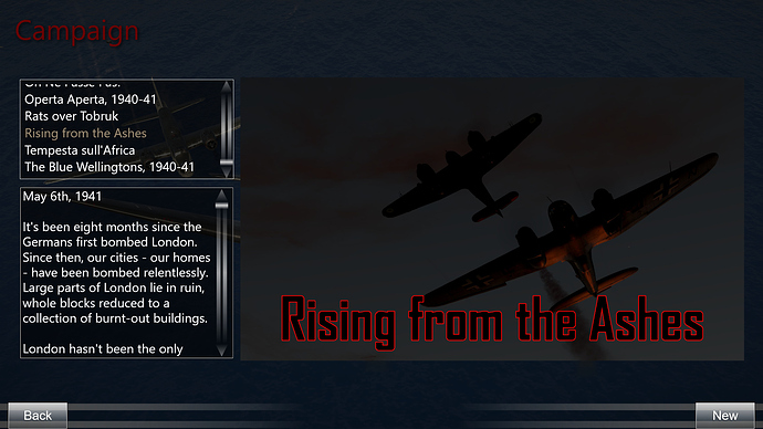 A description of the Beaufighter campaign.