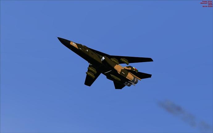 F-111E overhead