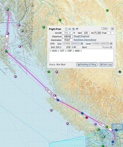 Leg08 KBVS - PAKT route