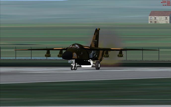 F-111E smokey to