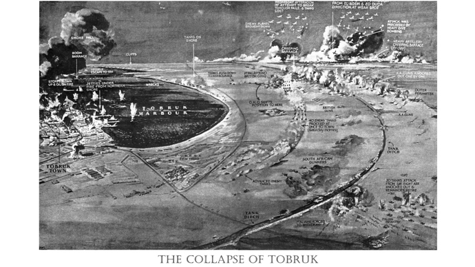 A 3D map rendition of the Collapse of Tobruk