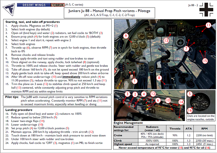 A screenshot of some Ju-88 documentation.