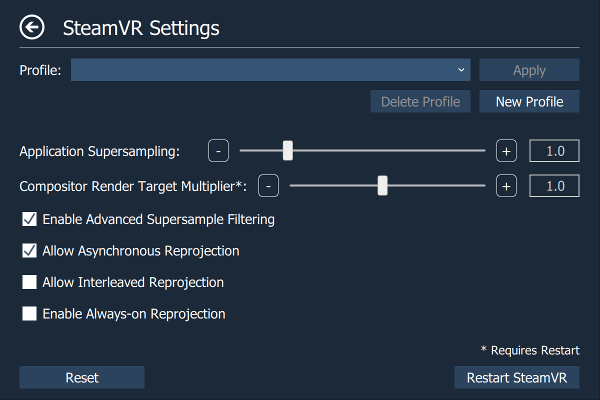 OpenVR AdvancedSettings Utility - Hardware & Tech Questions